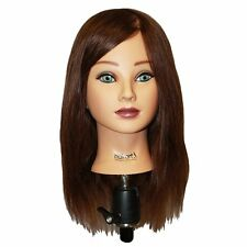 "Hairart 18"" Mia Deluxe Mannequin Head 100% Human Hair #4835"