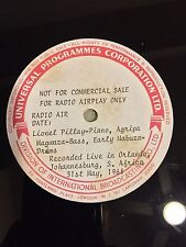 Lionel Pillay Live 31/5/68 South African Africa Radio Transcription Acetate