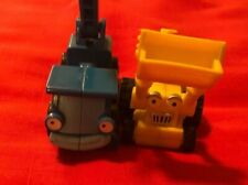 Bob the Builder Scoop Backhoe Yellow Tractor Vehicle and Lofty Blue Vehicle