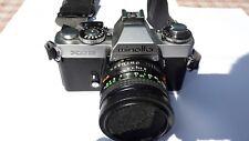 Minolta XD 5 analoge Spiegelreflexkamera mit zwei Objektiven