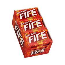 Dentyne Fire Spicy Cinnamon Sugar-Free Gum,16pc gum of 9 Pack 144pc 40min fresh