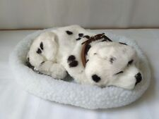new simulation breathing dog plush spot dog on a mat gift about 25cm