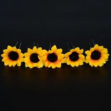 Wedding Sunflower Daisy Flower Yellow Headpiece Clips Hair Pins Headband