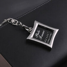 Mini Creative Metal Alloy Insert Picture Frame Keyring Couple Keychain Gift