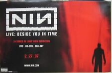 """NINE INCH NAILS 2007 """"beside you in time"""" promotional poster MINT NEW old stock!"""
