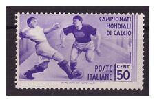 REGNO 1934 - MONDIALI DI CALCIO Cent. 50  NUOVO **