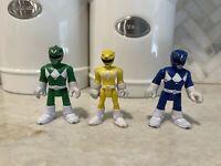 Imaginext POWER RANGERS LOT figures Green Yellow  Blue A
