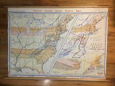 Denoyer-Geppert A5 ENGLISH COLONIAL GRANTS school map 1950