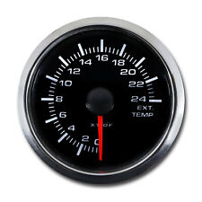 Taiwan Made 52 mm Auto Exhaust Gas Temperature Gauge White LED Black Face