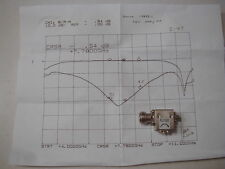 I-47 SMA  Isolator 6.1-9 GHz,  Great for DSN Band. TESTED w/plot
