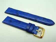 RRDE Orig KAUFMANN Leder Armband STRAUSS blau leather blue 19mm TOP unbenutzt