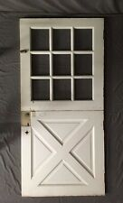 Vtg Solid Wood Dutch Door 9 Lite 36x77 Shabby Cottage Entryway Old 493-20E