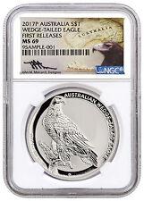 2017-P Australia $1 1 oz Silver Wedge Tailed Eagle NGC MS69 FR Mercanti SKU44923