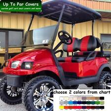 Club Car Precedent Golf Cart Front & Rear Seat Cover Combo - 2 STRIPE STAPLE ON