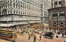 CPA ETATS UNIS D'AMERIQUE CHICAGO STATE AND MADISON STS CHICAGO BUSIET CORNER IN