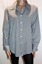 Katies Brand Women's Black White Check Long Sleeve Shirt Top Size 18 BNWT #TO71