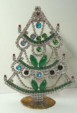 Christbaum Aufsteller Weihnachtsbaum Christmas tree Strass Gablonz Glas 15cm