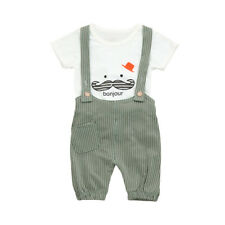Summer Baby Boy Blouse T shirt Tops Short Pants Overalls Outfit Children's Gift