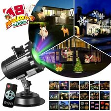 Halloween Christmas Projector Light 18-Patterns Color Holiday Outdoor Stage Lamp