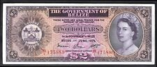 Belize: Government Of Belize, Two dollars, 1-6-1975, B/1 175889, (Pick 34b), ...