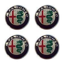 Quattro Coprimozzo ORIGINALE Alfa Romeo MiTo Cerchi in Lega LOGO NUOVO