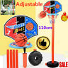 110cm Kids Free Standing Basketball Hoop Rack Net Backboard Stand Set Adjustable