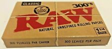 Raw 300's Classic Authentic Rolling Papers 1.25