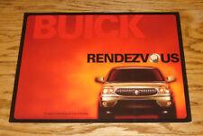 Original 2002 Buick Rendezvous Sales Folder Brochure 02