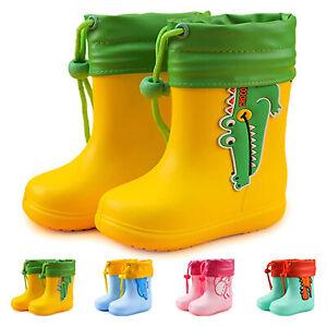 gummistiefel regenstiefel gummistiefeletten Kinder Unisex Rutschfest Wasserdicht