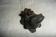 BEAUTIFUL REPRODUCTION! BRONZE FROG + RESIN FROG ST.PETERSBURG 1882 3.5 cm high