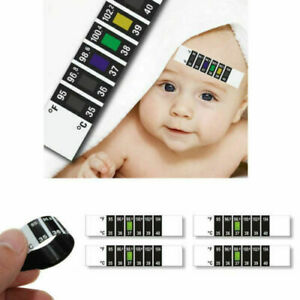 FOREHEAD THERMOMETER STRIP FEVER BABY CHILD ADULT CHECK TEST TEMPERATURE