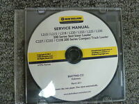 New Holland L213 L215 L218 L220 Skid Steer Loader Shop Service Repair Manual CD