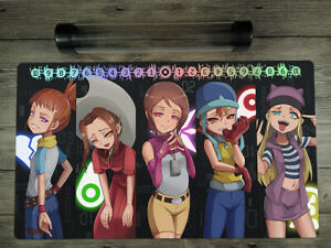 Digimon Adventure Girls Trading Card Game CCG DTCG Family Playmat Free Best Tube