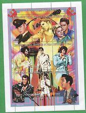 Elvis Presley 1935-1977 Commemorative African Souvenir Stamp Sheet Chad E63