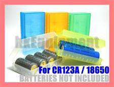 Ultrafire 18650 CR123A 16340 Battery Case Holder Box x8
