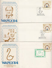 Stamps Western Australia WAPEX 84 set 8 days covers each with cinderella label