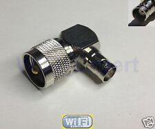 UHF PL259 PL-259 male to BNC female right angle 90° RF adapter connector 16x16mm
