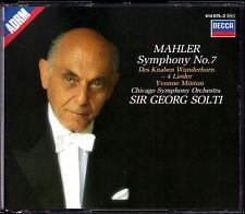 Georg Solti: MAHLER SYMPHONY NO. 7 brani del ragazzo miracolo CORNO Yvonne Minton 2cd