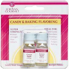 Lorann Oils FLAVOR-0900 Candy & Baking Flavoring .125oz 2/Pkg-Green Apple