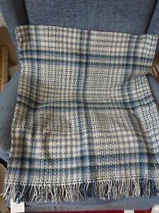 Blue & White Merino Wool blanket/throw - National Trust - BNWT