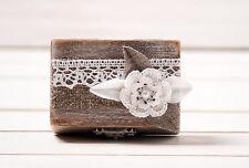 Ring Bearer Box, Rustic Wedding Ring Box, Ring Holder, Wooden Ring Box