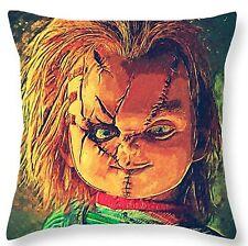 "Chucky 17x17"" Square Cushion Cover Pillow Case Xmas Bride of Chucky Horror"
