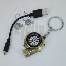 Rechargeable Electric Turbo Lighter keychain Bronze with BOV Sound