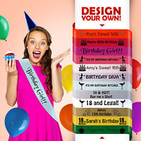 13th Birthday Teenager Today Sash Gift Party All Colours Girl Boy Sashes*
