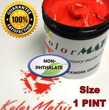 Super Opaque Clockwork Orange Plastisol - Non Phthalate –Screenprinting Ink Pint