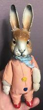 Rare Antique Vintage Miniature Schuco Bunny Rabbit Aid Up Toy Works W/key