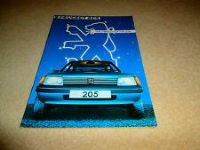 Peugeot  205 brochure 1983.