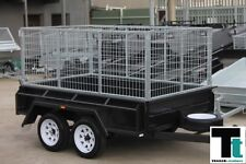 8x5 TANDEM CAGE TRAILER - HEAVY DUTY - BUDGET SPECIAL - 3 FOOT CAGE