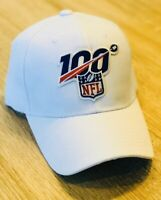 NFL 100th Year 100 Season Cap Hat 2019 Patch Style Referee White 100 Anniversary