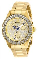 Invicta Women's Angel 28448 38mm Gold Dial Stainless Steel Watch